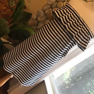 NWT Kate Spade Striped Off-the-Shoulder Dress